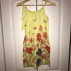 Old Navy Women Yellow Floral Dress